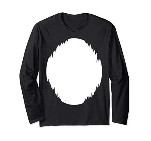 DIY Halloween Costume Light White furry belly Animal Shirt -