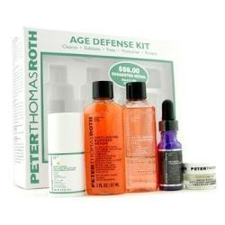 Peter Thomas Roth by Peter Thomas Roth Age Defense Kit: Cleansing Gel + Buffing Beads + Retinol Fusion + Defense...