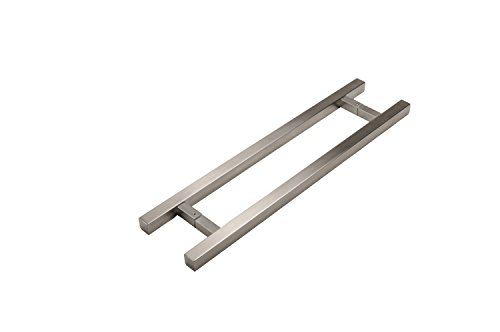 12'' Modern 1'' x 1'' Square Shape Ladder Pull Handle / Push-Pull Stainless-Steel Door Handle for Entrance/Entry/Shower/Wood/Glass/Office/Shop/Store, Interior/Exterior - Brushed Satin Finish by Strongar Hardware (Image #1)