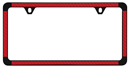 red and black license plate frame - 6