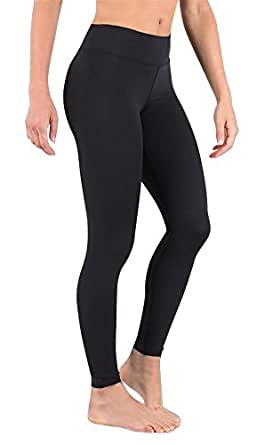 DeepTwist Womens Yoga Pants Active Ankle Workout Leggings Stretch Running Tights with Hidden Pocket, AU-SZ4002-Black-10