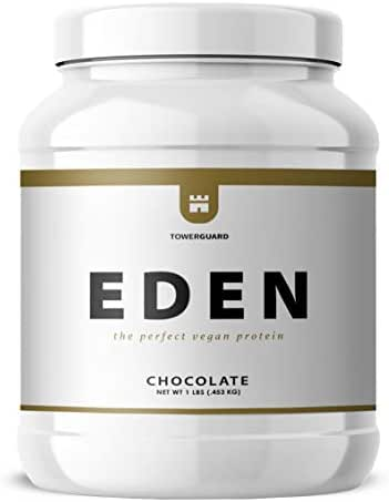 Eden Chickpea Protein Powder   Vegan, Low Net Carbs, Dairy Free, Gluten Free, Lactose Free, Soy Free, Non-GMO & High Bioavailability (1 lb, Chocolate)