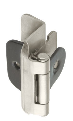 Amerock BP8704-G10 1/2-inch (13mm) Overlay Double Demountable Cabinet Hinge, Satin Nickel - 10 Pair (20 Units)