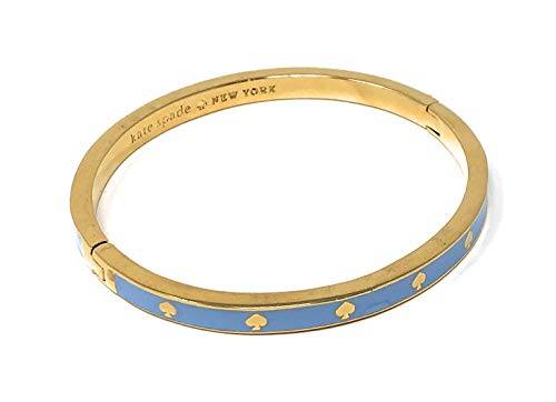 Kate Spade New York Spot The Spade Enamel Hinged Bangle Bracelet Light Blue