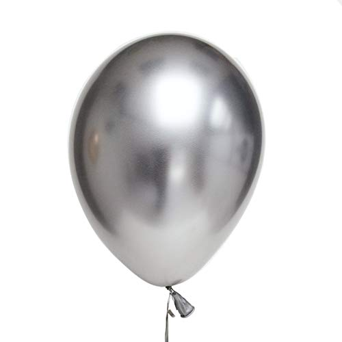 HakunaMatata Party Balloons 12inch 50 Pcs Latex Metallic Balloons Birthday Balloons Helium Shiny Balloons Party Decoration Compatible Wedding Birthday Baby Shower Christmas Party - Metallic -