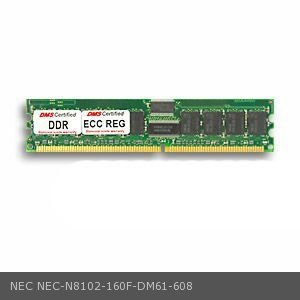 DMS Compatible/Replacement for NEC N8102-160F Express5800 120Re-2 512MB DMS Certified Memory DDR PC2100 266MHz ECC/Reg. 64x72 CL2.5 2.5v DIMM (32X8) - DMS (512mb 266mhz Ecc Ddr Memory)