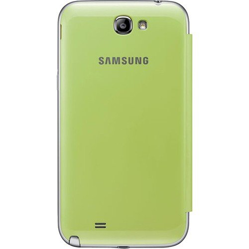 Samsung Galaxy Note 2 Flip Cover Case (Lime Green) Photo #2