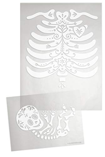 DIY Iron-on Transfer Skeleton: Sugar Skull Rib Cage and Skelly -