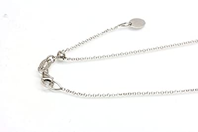"""14kt Solid White Gold Adjustable Chain 14"""", 16"""",18"""" 20"""" Easy Slide and Adjust ,Italy Lobster Claw Clasp"""