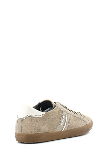D Geox D New Donna Coral Rock Basse Sneaker Beige BHHqPdwr