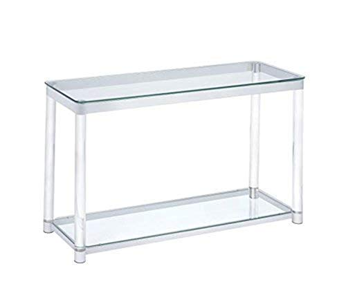 Coaster Home Furnishings Claude Rectangular Sofa Table with Shelf Clear