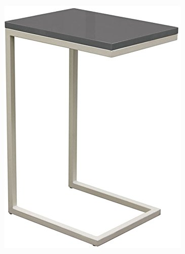 Accent Table in Elephant Gray with Sleek Metal Frame