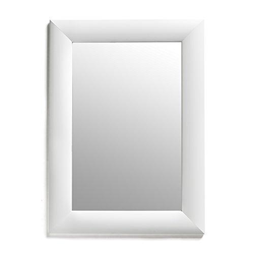 White Rectangular Framed Mirror 19x26 Inch