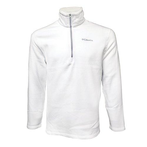 Columbia Fleece Half Zip Pullover - Medium - - Half White Jacket