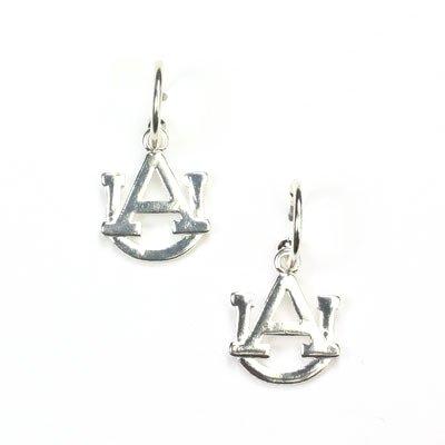 NCAA Auburn Tigers Silver Tone Earrings by Seasons Jewelry