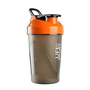 BSPA Plastic Life is A Sport Shaker Bottle/Protein Shaker/Sipper Bottle/Gym and Water Bottle, 500ml (Pack of 1)