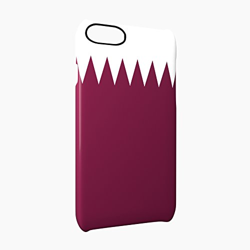 Flag of Qatar Glossy Hard Snap-On Protective iPhone 7 Plus + Case Cover