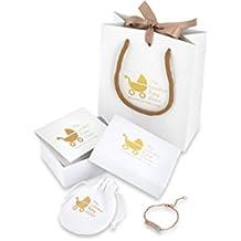 Gold Plaited Little Princess Baby Bracelet for Christening Gift and Keepsake