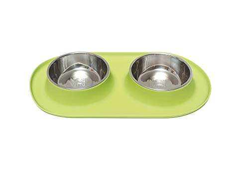 Messy Mutts Stainless Steel Double Dog Feeder