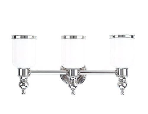 Hudson Valley Lighting Chatham 3-Light Vanity Light - Distressed Bronze Finish with Opal Glossy Glass Shade by Hudson Valley Lighting