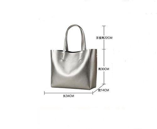 viaje trabajo Mujer de 1 Mano Ideal Hecho Sucastle bolsos a 5 Cuero Genuina Gran y Genuino Bloqueo para hombro RFID Capacidad UaCxdEqwRx