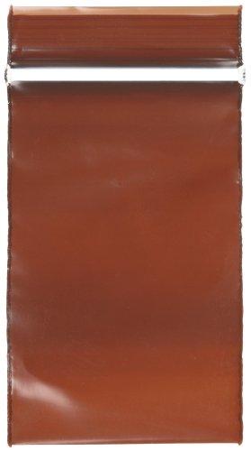 - Qorpak BAG-09917 Low Density Polyethylene Amber Zip Bag, 3