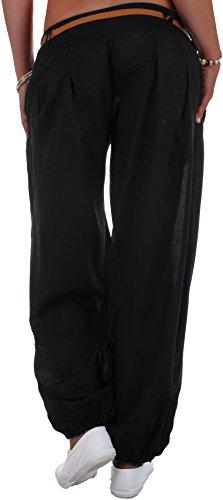 Black Denim - Pantalón - relaxed - para mujer negro