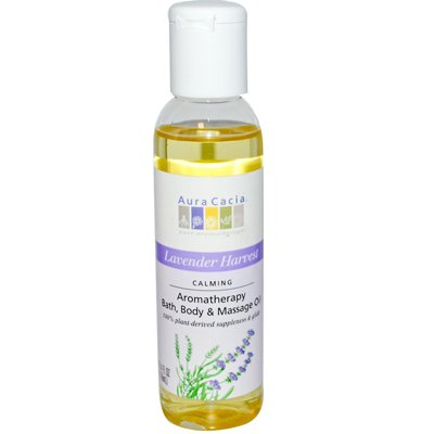 - Aura Cacia - Aura Cacia Aromatherapy Body Oil Lavender Harvest - 4 Fl Oz - Pack Of 1
