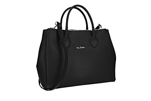 Bolsa mujer PIERRE CARDIN negro abertura zip cuero MADE IN ITALY VN1511