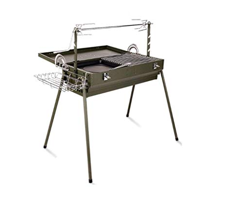 Outdoor BBQ Charcoal 5-10 People Rotating Thickening  Portable Folding Multi-Tools Family Friends Wild Camping Picnic Garden Party Fishing Garden