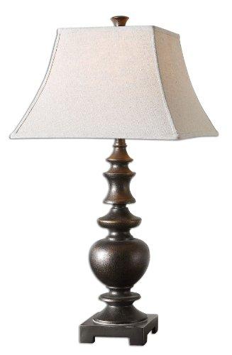 (Textured Dark Bronze Table Lamp Transitional)