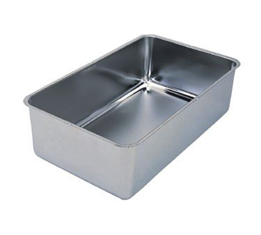 Spillage Pan, 6-1/4'' Deep, Stainless Steel, Accommodates 2-1/2'', 4'' & 6'' Steam Table Pans (3 Pieces/Unit) 4' Deep Steam Table Pan