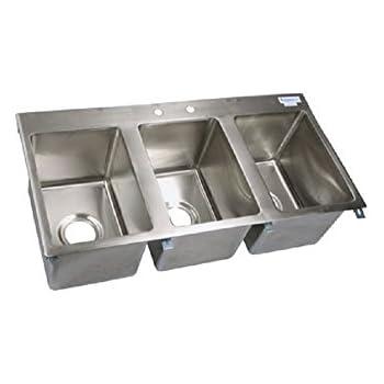this item three compartment drop in sinks. Interior Design Ideas. Home Design Ideas