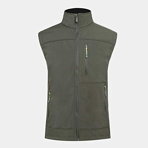 Outdoor Charge Vest Windproof Waterproof Soft Shell Vest, Military Grün, XXL
