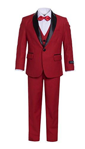 12 Ferrecci Boys RENO JR RED 5pc Tuxedo (Five Piece Tuxedo Set)