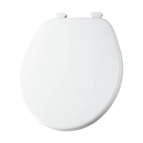 Church 540EC 000 Wood Toilet Seat with Cover, White
