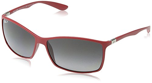 Ray-Ban Mens Liteforce Sunglasses (RB4179) Brown/Grey Plastic - Polarized - - Ban Liteforce Sunglasses Ray