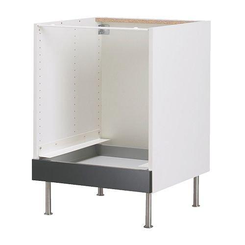 IKEA FAKTUM - Mueble bajo para horno, de Abstrakt negro - 60 cm ...