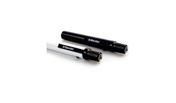 Riester 5131-01 e-xam negro, LED 2,5V, en bolsa con cabezal del soporte para depresor lingual: Amazon.es: Amazon.es