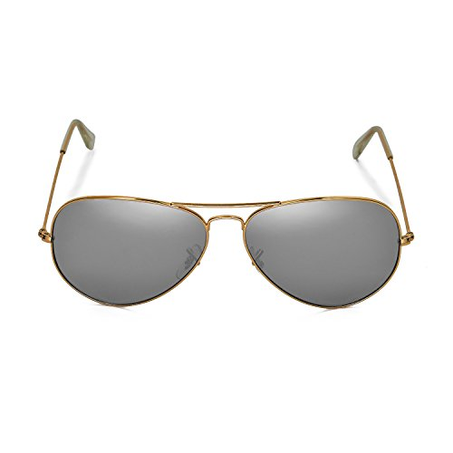 d2f7184cdf1 Amazon.com  Walleva Polarized Titanium+Black Lenses for Ray-Ban Aviator  Large Metal RB3025 62mm  Clothing