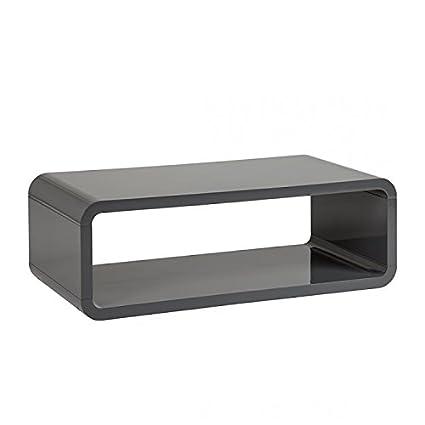Fredriks Design Couchtisch Mike Wohnzimmer Tisch Beistelltisch Hochglanz  Grau: Amazon.de: Küche U0026 Haushalt