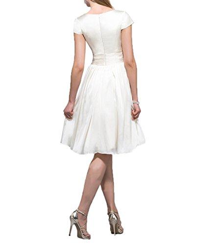 Partykleider Flieder Brautjungfernkleider Abendkleider Mini Charmant A Cocktailkleider Damen Kurzes Knielang Linie ggvRw0