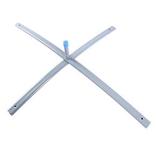 YAETEK Teardrop Flag Metal Stand - Feather Flag Steel Cross Base - Flagpole Mount X-Base]()