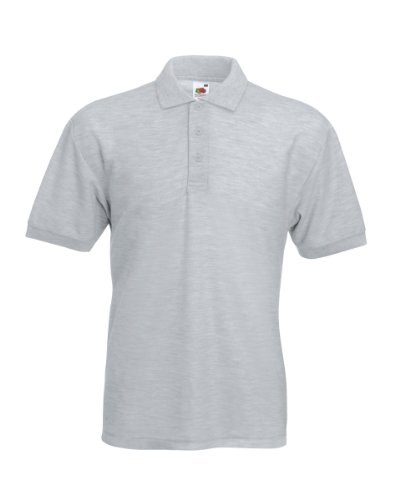 Fruit of the Loom Pique Polo Shirt SIZE XXL COLOUR Heather