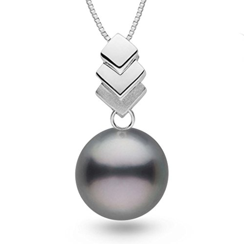 Escalier Collection 12.0-13.0 mm Tahitian Cultured Pearl Pendant - White Gold - 18 Inch
