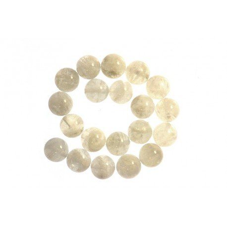 1 x Perle Pierre de Lune Blanche 10mm