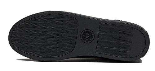 Opp Mens Cuoio Caviglia Stivali Stivali Scarpe Lacci E Blu-2