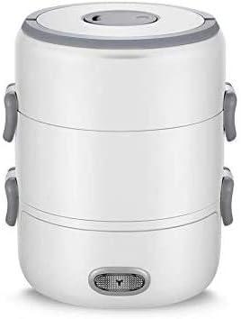 白磁ライン食品カテゴリマテリアル仕様に蒸気ご飯に調理する食品のボタン弁当箱ポータブル暖房電気スチーム調理器