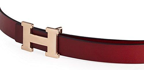 Fashion H-Style Slim Belt for Women Lady [2.5cm Belt Width] (Brown, 95cm (Waist 27''~33'' or Below)) by Amone Ling (Image #6)