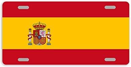 Dant454ty bandera de España, placa frontal decorativa de metal para matrícula, marco de placa de matrícula, divertida etiqueta de tocador para mujeres, para hombres: Amazon.es: Coche y moto